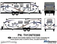 North Trail - 2013 North Trail Caliber Edition TT-Travel Trailer - 56 Piece 2013 North Trail Caliber Edition Complete Graphics Kit