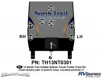 North Trail - 2013 North Trail Caliber Edition TT-Travel Trailer - 7 Piece 2013 North Trail Caliber Edition Front Graphics Kit