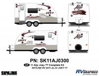 Aljo - 2011 Aljo Joey TT-Travel Trailer - 2011 Skyline Aljo Joey TT Complete Graphics Kit