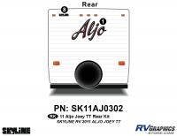 Aljo - 2011 Aljo Joey TT-Travel Trailer - 2011 Skyline Aljo Joey TT Rear Graphics Kit