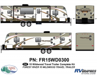 Wildwood - 2015 Wildwood TT-Travel Trailer - 51 Piece 2015 Wildwood TT Flat Cap Complete Graphics Kit