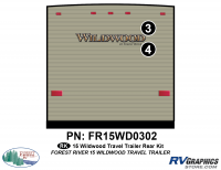 Wildwood - 2015 Wildwood TT-Travel Trailer - 2 Piece 2015 Wildwood TT  Rear Graphics Kit