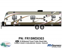 Wildwood - 2015 Wildwood TT-Travel Trailer - 21 Piece 2015 Wildwood TT Roadside Graphics Kit