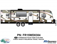 Wildwood - 2015 Wildwood TT-Travel Trailer - 21 Piece 2015 Wildwood TT Curbside Graphics Kit