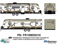 51 Piece 2015 Wildwood TT Rockguard Complete Graphics Kit