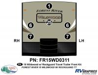 6 Piece 2015 Wildwood TT Rockguard Front Graphics Kit