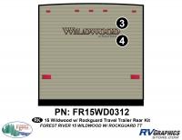 2 Piece 2015 Wildwood TT Rear Graphics Kit