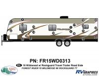 21 Piece 2015 Wildwood TT  Roadside Graphics Kit
