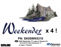 Weekender - 2005 Weekender TT-Travel Trailer - 05 Weekender TT All logos/scenes only