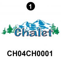 "2004 Side Chalet Pict Logo; 7.8"" x 26"""