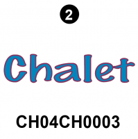 "2004 Rear""Chalet"" Logo;16"""