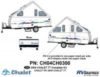 6 Piece 2004 Chalet TT Complete Graphics Kit
