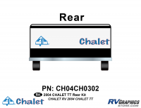 2 Piece 2004 Chalet TT Rear Graphics Kit