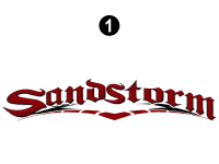 Sandstorm - 2008-2009 Sandstorm FW-Fifth Wheel Red - Large Sandstorm Logo