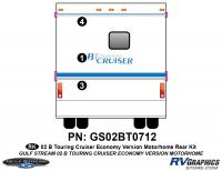 B Touring Cruiser - 2002 Motorhome-Economy OEM Version - 2002 B Touring Cruiser Rear Kit Economy OEM Colors