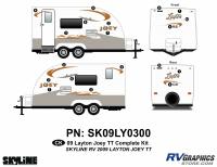 Layton - 2009 Layton Joey TT-Travel Trailer - 2010 Layton Joey Lite TT Complete Graphics Kit