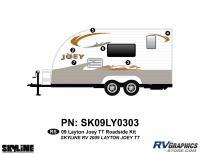 Layton - 2010-2011 Layton Joey TT-Travel Trailer - 2009 Layton Joey Lite TT Roadside Graphics Kit
