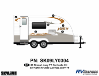 Layton - 2010-2011 Layton Joey TT-Travel Trailer - 2009 Layton Joey Lite TT Curbside Graphics Kit