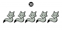 "Arctic Fox - 2015 Arctic Fox Other Items - 6"" Baby Fox (5 Pack)"
