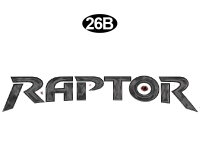 Raptor - 2011 Raptor Velocity FW - Front Badge Name DC