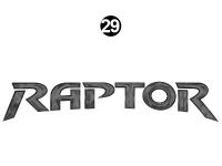Raptor - 2011 Raptor Velocity FW - Side Raptor Logo