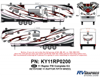 Raptor - 2011 Raptor FW - 51 Piece 2011 Raptor FW Complete Graphics Kit