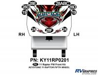 9 Piece 2011 Raptor FW Front Graphics Kit