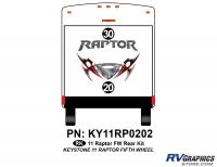 2 Piece 2011 Raptor FW Rear Graphics Kit