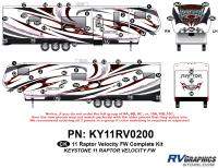 Raptor - 2011 Raptor Velocity FW - 58 Piece 2011 Raptor Velocity FW Complete Graphics Kit