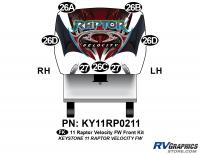 Raptor - 2011 Raptor Velocity FW - 7 Piece 2011 Raptor Velocity FW Front Graphics Kit