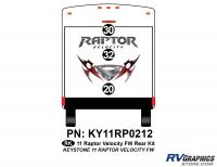 Raptor - 2011 Raptor Velocity FW - 3 Piece 2011 Raptor Velocity FW Rear Graphics Kit