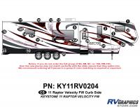 Raptor - 2011 Raptor Velocity FW - 24 Piece 2011 Raptor Velocity FW Curbside Graphics Kit
