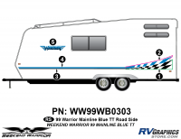Weekend Warrior Mainline - 1999-2000 Weekend Warrior TT-Travel Trailer - 5 piece 1999 Weekend Warrior FW Roadside Graphics Kit