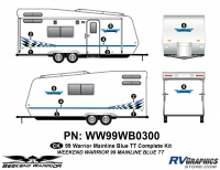 Weekend Warrior Mainline - 1999-2000 Weekend Warrior TT-Travel Trailer - 12 piece 1999 Weekend Warrior TT Complete Graphics Kit