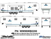 Weekend Warrior Mainline - 1999-2000 Weekend Warrior FW-Fifth Wheel - 14 piece 1999 Weekend Warrior FW Complete Graphics Kit