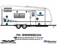 Weekend Warrior Mainline - 1999-2000 Weekend Warrior TT-Travel Trailer - 5 piece 1999 Weekend Warrior FW Curbside Graphics Kit