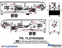 41 Piece 2007 Nitrous Fifth Wheel Toyhauler Complete Graphics Kit