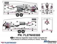 42 Piece 2007 Nitrous Travel Trailer Toyhauler Complete Graphics Kit