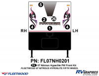 6 Piece 2007 Nitrous Fifth Wheel Toyhauler Front Graphics Kit