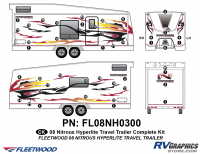 Nitrous - 2008 Nitrous Travel Trailer Toyhauler - 42 Piece 2008 Nitrous Travel Trailer Toyhauler Complete Graphics Kit