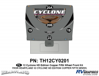 Cyclone - 2012 Cyclone FW-Fifth Wheel Toyhauler-Copper - 5 Piece 2012 Cyclone FW Front Graphics Kit Copper Version