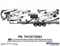 Cyclone - 2012 Cyclone FW-Fifth Wheel Toyhauler-Copper - 29 Piece 2012 Cyclone FW Roadside Graphics Kit Copper Version