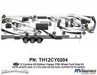 Cyclone - 2012 Cyclone FW-Fifth Wheel Toyhauler-Copper - 29 Piece 2012 Cyclone FW Curbside Graphics Kit Copper Version