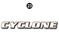 Cyclone - 2012 Cyclone FW-Fifth Wheel Toyhauler-Copper - Side Cyclone Legend