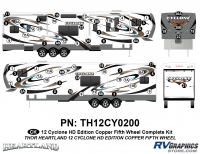Cyclone - 2012 Cyclone FW-Fifth Wheel Toyhauler-Copper - 64 Piece 2012 Cyclone FW Complete Graphics Kit Copper Version