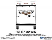 Cyclone - 2012 Cyclone FW-Fifth Wheel Toyhauler-Copper - 1 Piece 2012 Cyclone FW Rear Graphics Kit Copper Version