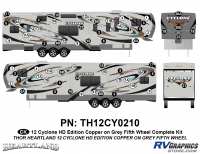 Cyclone - 2012 Cyclone FW-Fifth Wheel Toyhauler-Copper - 64 Piece 2012 Cyclone FW Complete Graphics Kit Copper/Gray Version