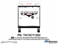 1 Piece 2012 Cyclone FW Rear Graphics Kit Red Version