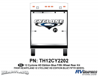 1 Piece 2012 Cyclone FW Rear Graphics Kit Blue Version