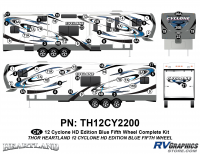 Cyclone - 2012 Cyclone FW-Fifth Wheel Toyhauler-Blue - 64 Piece 2012 Cyclone FW Complete Graphics Kit Blue Version